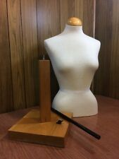 "White Cloth Torso Female Mannequin Dress Form Clothing Display 36"" Tall"