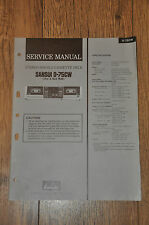 Sansui D-75CW Stereo Double Cassette Tape Deck Genuine Service Manual