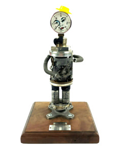 Vintage 1935-1973 38 Year US Gauge Machinist Robot Man Folk Art Service Award