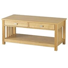 Seconique Ashmore 2 Drawer Coffee Table - Ash Veneer