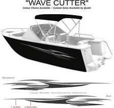 "BOAT GRAPHICS  DECAL STICKER KIT ""WAVE CUTTER -1800"" MARINE CAST VINYL"