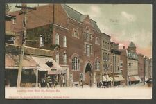 Vintage Postcard - Looking Down Main St. Bangor, Maine - Posted 1907