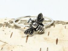🐝Handmade Silver Bee Ring, Rings, Women's Silver Bee Fashion Stacking Ring