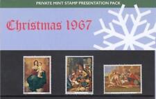 GB 1967 CHRISTMAS SEASONAL PRIVATE PRESENTATION PACK SG 756 757 MISSED GPO RARE