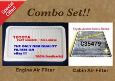 Engine Filter&Cabin Air Filter Combo Set For CAMRY SIENNA Carbonized US SELLER!