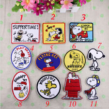 11PCS Peanuts Snoopy Characters Patches Embroidered Iron/Sew On Applique Patch