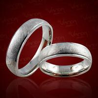 2 Trauringe 925 Silber GRAVUR + Etui Eheringe Verlobungsringe Partnerringe pr49