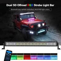 "32"" CREE LED Light Bar Bluetooth Control Multi Color For Offroad Truck SUV ATV"