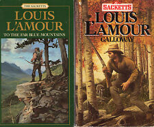 Complete Set Series - Lot of 17 The Sacketts Westerns by Louis L'Amour (Sackett)