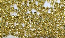 1000 x 3mm Gold Plated Round Spacer Beads - BULK Special Offer - Ball Beads SP4