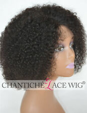 Short Kinky Curly Wigs Bob Brazilian Remy Human Hair Silk Top Deep Parting Wigs