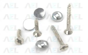 Mirror Screws Choose - Size/Type Available Flat,Dome,Chrome & Brass High Quality