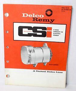 DELCO REMY DELCOTRON CSI FREE SHIP
