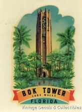 RARE BOK TOWER LAKE WALES FLORIDA MEYERCORD VINTAGE TRAVEL DECAL SOUVENIR WATER
