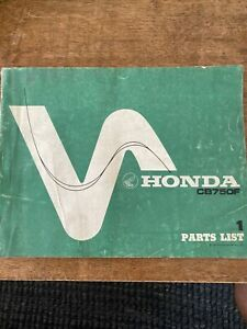 1975 Honda CB750F OEM Parts List Manual