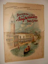 1901 Frangesa Neapolitan Two Step Edward George Chicago Sunday Newspaper