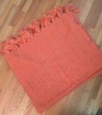 "Handmade Orange Afgan 58 x 50"""