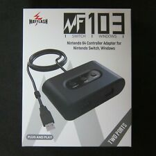New Nintendo 64 N64 Controller USB adapter to for PC , Switch NS Mayflash 2-port