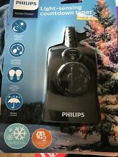 Philips Dusk to Dawn 8/6/4/2hr Countdown Timer Outdoor 2 Outlet Grounded NEW!!