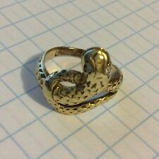 14K YELLOW GOLD SNAKE DIAMOND RING
