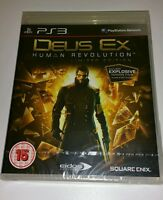 DEUS EX Limited Edition PS3 New Sealed UK PAL Version Game Sony PlayStation 3