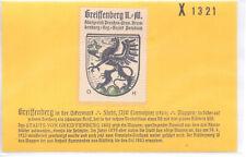 Reklamemarke Wappen von Greiffenberg Brandenburg  um 1925 (B514)
