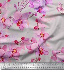 Soimoi Fabric Bird & Orchids Flower Print Fabric by the Yard - FW-71H