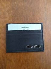 Mui Mui Wallet ID Credit Card Key Card Holder Leather Nero Never Used