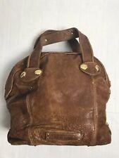 "GUSTTO ""Setelah"" Brown Leather Extra Large Tote Bag Handbag Purse Hobo Satchel"