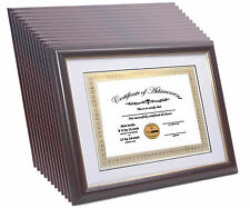 CreativePF [11x14mh/gd] Mahogany Certificate Frame Displays 8.5 by 11-inch Certi