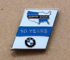 BMW CCA Car Club of America 10 Years Logo Lapel Hat Pin - Rhombus Shape