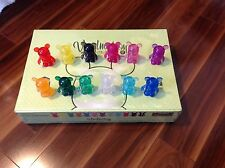 "Clear Series Set of 12 Disney VINYLMATION 3"" w/ Chaser Black Blue Red Pink Green"