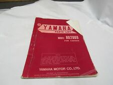 GENUINE Yamaha RD200D For Canada Parts List 1W9-28198-H0