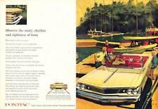 1960 Pontiac Bonneville Convertible at the Marina Sailboats PRINT AD