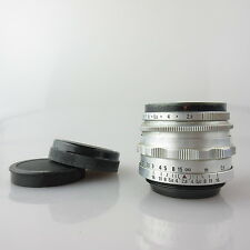 M42 12 Lamellen Contax Alu Zeiss Tessar 2.8/50 red T Objektiv / lens