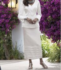 Mother of Bride Groom Dress White suit Women's Wedding evening plus size 16 ,24W