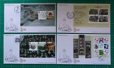 More details for 2016 the great war 1916 set of 4 psb booklet panes on fdc 4 different postmarks