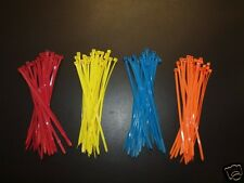 100 Cable ties in 4 bright colours perfect for drift / track 200mm x 4.8mm