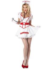 Nurse Heart Breaker White Midwife Hospital Uniform Role Play Womens Costume