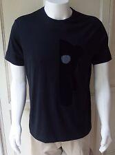 EMPORIO ARMANI Men's Black T-Shirt, w/velvet Teddy Bear Print 100% Cotton XL