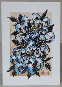 "Flower ""Chysanthanmum"" Limited Edition Print - Original Artwork"