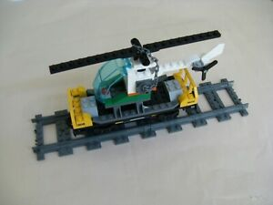 Lego CITY TRAIN 60098: FLATBED RAIL CAR w/ HELICOPTER..ONLY