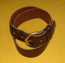 1e72d99f0e73 COACH MAHAGONY MADE IN U.S.A. GLOVE TANNED COW LEATHER BELT SIZE M - 28 70cm
