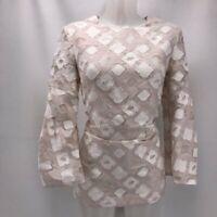 Lela Rose Ivory Textured Blouse 10
