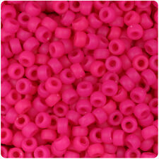 1000 Magenta Pink Matte 7mm Mini Barrel Plastic Pony Beads Made in the USA