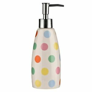 Lotion Dispenser, Multi Coloured Dot, Stoneware