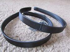Confezione da 2 Raso Nero per Capelli Alice Bande cerchietto di plastica 1.3cm Shiny Hairband
