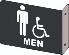 Men Handicap Restroom 2D Projection Wall Mount Alum. Sign Restaurant Business