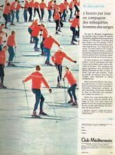G- Publicité Advertising 1968 Club Mediterranée Ski Sports d'hiver