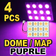 4x Purple LED Panels For Dome Map Lights 12-SMD 5050 Brightest
